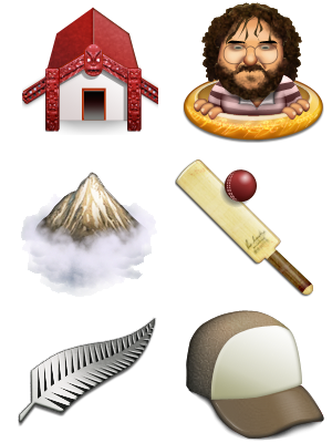 New Zealand Icon Set